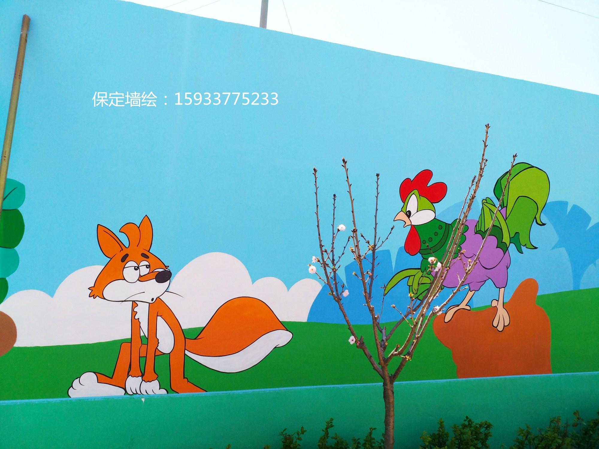幼儿园小动物墙绘