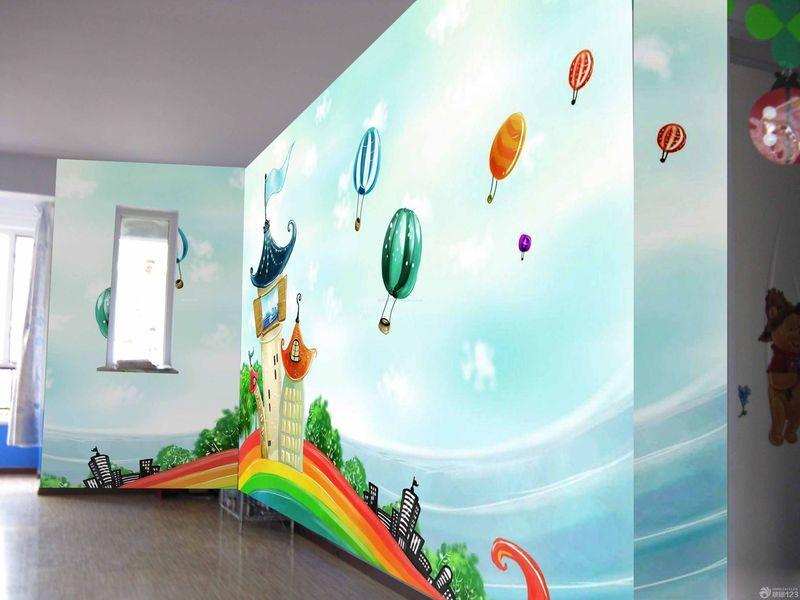 幼儿园森林墙绘图片大全